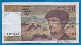 FRANCE 20 FRANCS 1987 # E.021 187944 F# 66-8 ''Debussy'' - 20 F 1980-1997 ''Debussy''