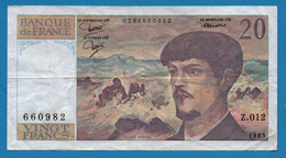 FRANCE 20 FRANCS 1983 # Z.012 660982 F# 66-4 ''Debussy'' - 20 F 1980-1997 ''Debussy''