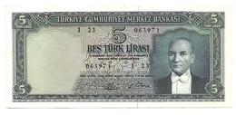 Turchia - 5 Lirasi 1952 - Turquie