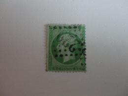 TIMBRE DE FRANCE 1862 EMPIRE FRANC  N° 20    OBLITERE  GC 229 AUNAY EN BAZOIS NIEVRE - 1862 Napoleon III
