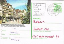 Deutschland - Germany - Bildpostkarte Bad Salzuflen - Fachwerk Bauten - Stationary - Bildpostkarten - Gebraucht