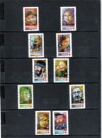 10 Timbres  Adhésifs  Oblitérés(2019) ( Croix-rouge Francaise) - Adhesive Stamps
