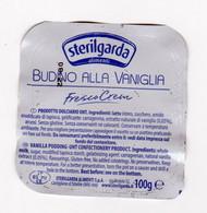 STERILGARDA BUDINO VANIGLIA DESSERT   COPERCHIO ITALY - Labels