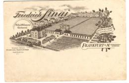 SCHNITTBLUMENGÄRTNEREI Friedrich Sinai ROSEN- FLIEDER-Spezialkulturen WERBEKARTE Um 1904 - Frankfurt A. Main