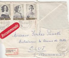 91310- QUEENS OF BELGIUM, STAMPS ON REGISTERED COVER, 1963, BELGIUM - Belgium