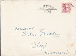 91311- LION COAT OF ARMS, STAMPS ON COVER, 1963, BELGIUM - Belgium