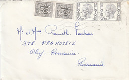 91312- LION COAT OF ARMS, STAMPS ON COVER, 1963, BELGIUM - Belgium