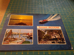 40998 Riccione  Cartolina Con Strano Motoscafo - Rimini