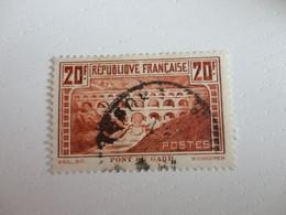 TIMBRE DE FRANCE PONT DU GARD OBLITERE N°11b - Gebraucht