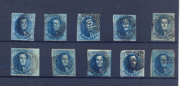 10 Medaillons Gestempeld 20 Ct Sommige Met Watermerk - 1849-1865 Medallions (Other)