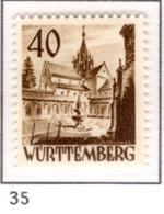 Ex Colonie Française * Allemagne-Wurtemberg * Poste 35  Qualité Luxe  N** - Franse Zone