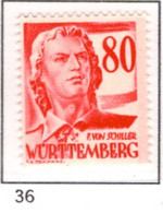 Ex Colonie Française * Allemagne-Wurtemberg * Poste 36  Qualité Luxe  N** - Franse Zone
