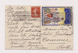 CACHET ET TIMBRE EXPOSITION INTERNATIONALE DE LYON MAI à NOVEMBRE 1914 - - Wereldtentoonstellingen