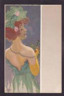 CPA Kirchner Raphaël Art Nouveau Femme Girl Woman Non Circulé Voir Scan Du Dos - Kirchner, Raphael