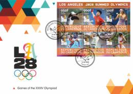 FDC Stamps. Olympic Games 2028 In Los Angeles   Field Hockey - Hockey (su Erba)