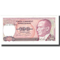Billet, Turquie, 100 Lira, 1970, 1970-10-14, KM:194b, SPL - Turquie