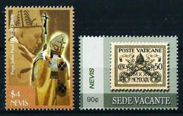Nevis Nº 1860/1 (Juan Pablo II) Nuevo - St.Kitts Und Nevis ( 1983-...)