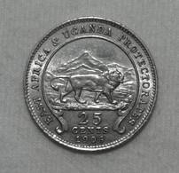 Silber/Silver Britisch Ostafrika/British East Africa & Uganda Edward VII, 1906, 25 Cents Funz/AU - Colonies