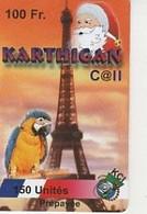 KARTHIGAN CALL 150U 1999  TOUR EIFFEL/ PERROQUET / PERE NOEL - Frankreich