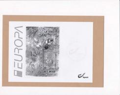 Feuillet Noir Et Blanc ZNP43 L'éloge De La Forêt Europa 4180 4181 Bloc 194 - Hojas Blanco & Negro