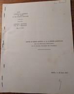 Rapport Au Comite National De La Recherche Agronomique_direction Régionale_Mali_1963 - Books, Magazines, Comics