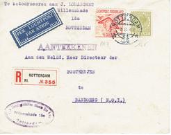 Pays Bas PA 7 + 146 Lettre Recommandée Par Avion à Destination De Bandung Indonésie Du 02-10-1928 - Storia Postale