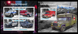 SIERRA LEONE 2020 - Special Transport, Police, M/S + S/S Official Issue [SRL200517] - Police - Gendarmerie
