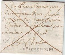 ST ETIENNE EN FOREZ Loire Lettre EN PORT PAYE Achat D' ARME PAR UN PRETRE !!! 1768 , Ind 18 RARE - 1701-1800: Precursores XVIII