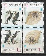 ANTARCTIQUE - LITUANIE 2000 Manchots, Phoque - Yv. 645/46 ** - Non Classés