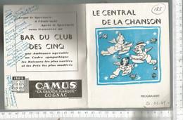 PL /  Programme THEATRE MUSIC HALL CENTRAL DE LA CHANSON 1049 @@ LINE RENAULT  LOULOU GASTE - Programs