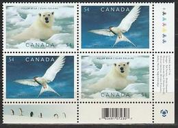 ANTARCTIQUE - CANADA 2009 Préservation Des Pôles, Ours, Sterne, Manchots, Renard - Yv. BF2429/30 X2 ** - Non Classés