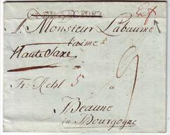 Lettre D' ERFRUT Allemagne Marque Manuscrite + FRANCFORT + HAUTE SAXE Pour La France Texte De 1811 - 1801-1848: Precursores XIX