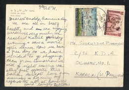 Afghanistan 1971 Postal Used With Stamps Aerial View Mohd Jan Khan Watt Kabul Picture Postcard Medical - Afghanistan