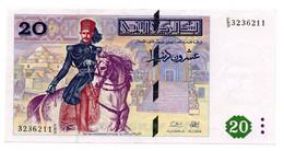 Tunisie /  20 Dinars / 7-11-1992 / SPL - Tunisia