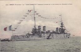 """Finistère - Brest - Le """"Léon Gambetta"""" Croiseur Cuirassé De 12.500 Tonnes De L'Escadre  Du Nord - Brest"""