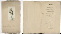 MENU ANCIEN Marius Boissieux 23 Février 1911 Photographie Photographique Enfant Repas De Fête  Vieux Papiers Document - Menu