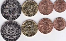 Bhutan - Set 4 Coins 5 10 25 Chhertum 1 Ngultrum 1979 AUNC / UNC Lemberg-Zp - Bhutan