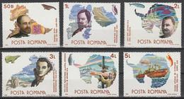 ANTARCTIQUE - ROUMANIE 1986 Explorateurs - Yv. 3690/95 ** - Non Classés