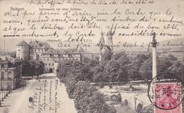 ALLEMAGNE . STUTTGART. SCHLOSSPLATZ MIT ALTEM SCHLOSS .  ANNÉE 1905 +  TEXTE - Stuttgart