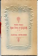 Freimaurer Freemasonry - South Africa Natal Rose Croix Of Scotland Chapter Jubilee Booklet 1925 - Zonder Classificatie