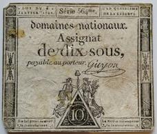 Francs - 10 Sous - 1792 - Série 564 - TB+ - Assegnati