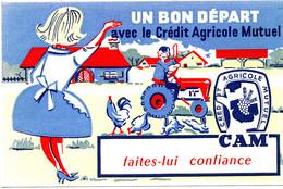 BU 1970 /   BUVARD-     UN BON DEPART AVEC LE CREDIT AGRICOLE MUTUEL    (21,00 Cm X 13,50 Cm) - Bank En Verzekering