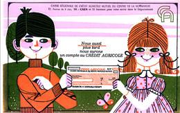 BU 1972 /   BUVARD-    UN COMPTE AU  CREDIT AGRICOLE     (21,00 Cm X 13,50 Cm) - Bank En Verzekering