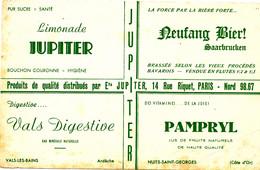 BU 1985 /   BUVARD-     LIMONADE JUPITER     (21,00 Cm X 13,50 Cm) - Softdrinks
