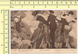 PARIS  BAR DES NOCTAMBULES LA TANGO Peinture De G. Leroux Danses Carte Postale Old Postcard - Otros