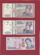 Roumanie 13 Billets Dans L 'état --( 50000 LEI ---ANNEE 1996-2000 ET 5000 LEI 1992 FORTE COTE EN UNC) - Romania
