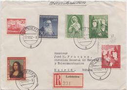 LEONARDO DA VINCI - HENRY DUNANT & JUGENDMARKE - 1952 - Storia Postale