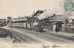 LISIEUX (Calvados) - CPA, La Gare. Edition ND Phot. N° 153. Circulée En 1905. Bon état. - Lisieux