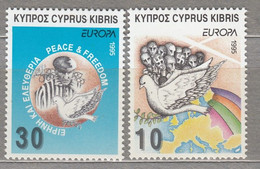 CYPRUS 1995 Europa CEPT Peace Mi 854-855 MNH(**) #25619 - Europa-CEPT