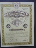 29 - COMPANIA MEXICANA DE PETROLEO - ACTION DE $ 500 - - Hist. Wertpapiere - Nonvaleurs